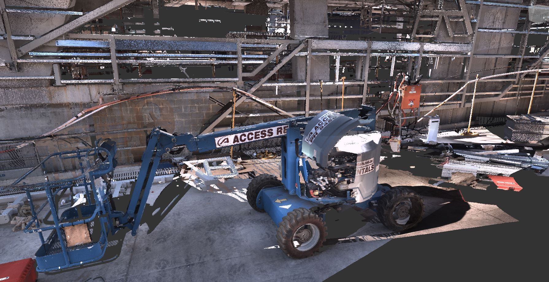 Point Cloud Laser Scan with Photo Realistic Render